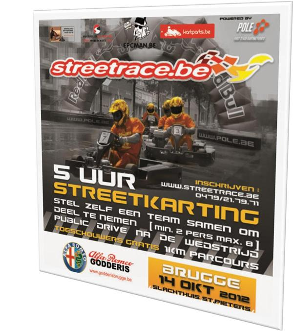 affiche Streetrace Brugge 2012