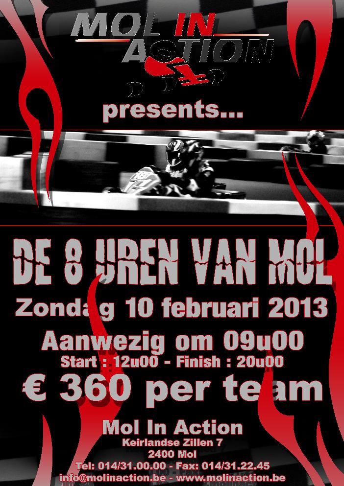 Affiche van de 8u van Mol in Action, editie 2013
