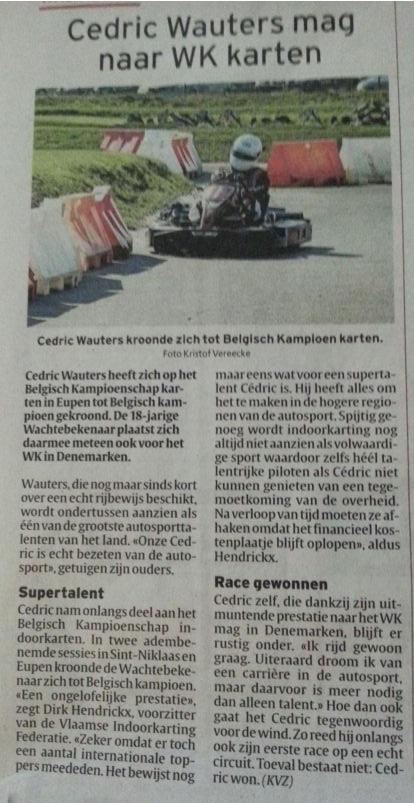 artikel Cédric Wauters