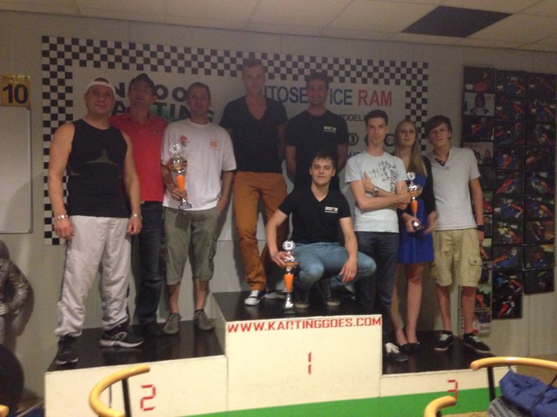 Podium wet race Goes 07/06/2013