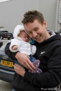Jochen met dochtertje Lena