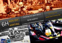 affiche Kick off Karting 2015