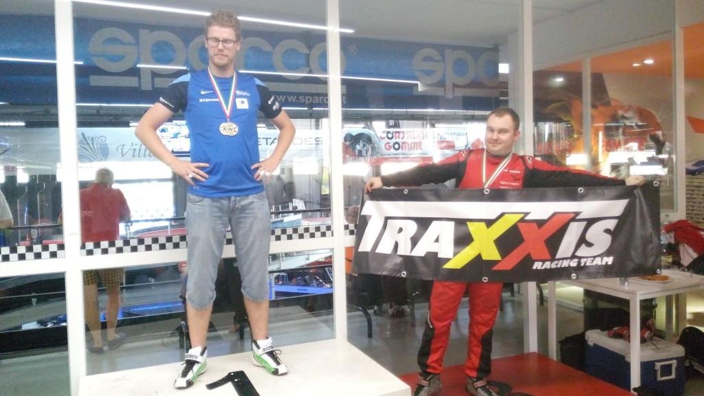 Matthias op het podium van 1 van de qualifier rounds