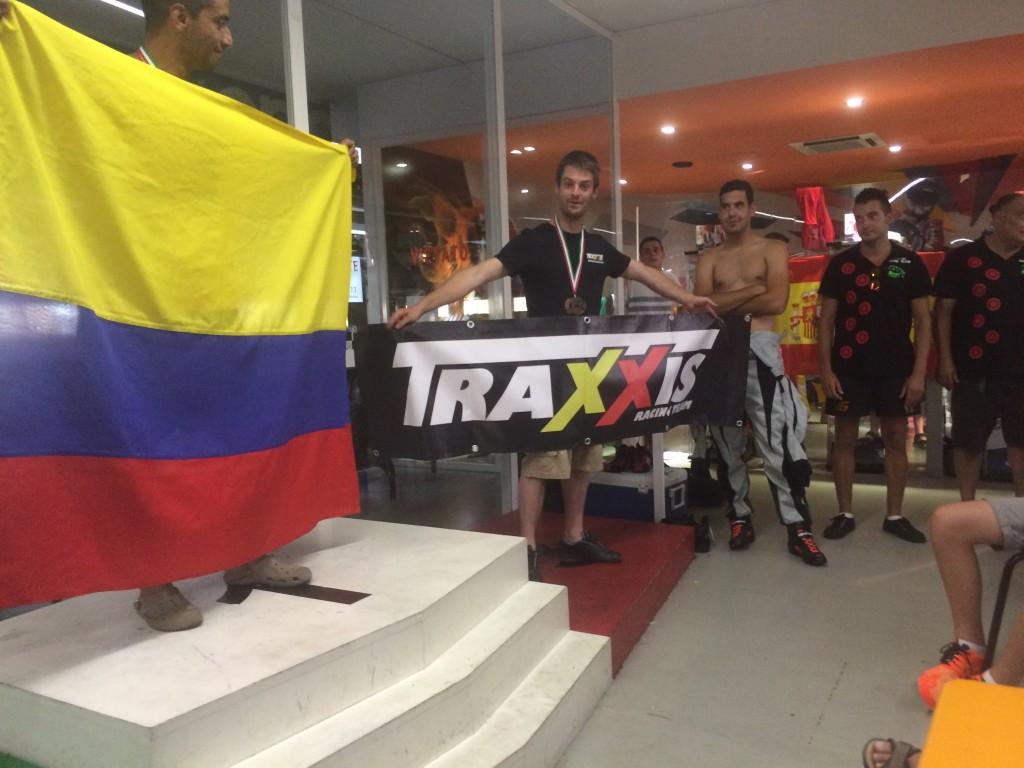 Stefan op het podium van 1 van de qualifier rounds