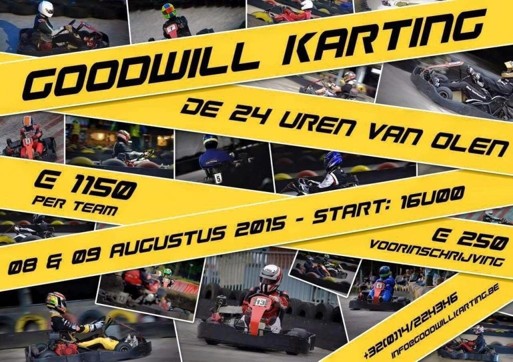 24 uren Goodwill Karting Olen 2015 - affiche