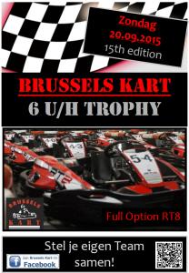 Brussels Kart 6h Trophy - affiche