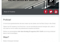GT Academy contest