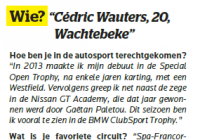 Turbo Magazine - excerpt interview Cédric Wauters